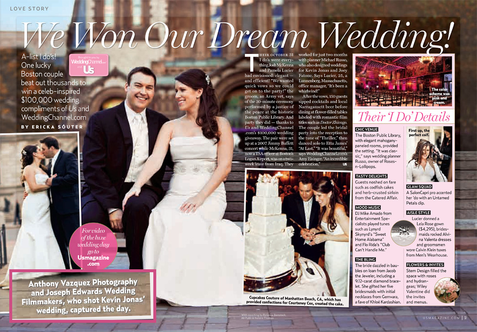 Print we won our dream wedding us weekly 2010 for 116 west 23rd street 5th floor new york ny 10011