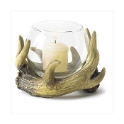 antlers candle holder
