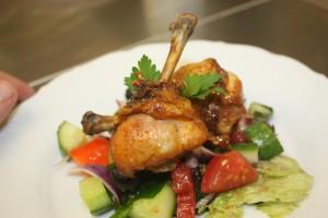 wedding dinner chicken vegetables and salad